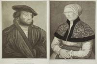 Bartolozzi: Portraits of Hans Holbein and wife
